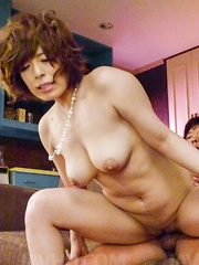 Ririsu Ayaka Asian has clit rubbed and gets hard penis on assets