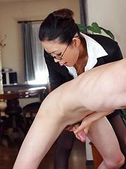 J Ecstasy - Yui Komine gets sperm on her face