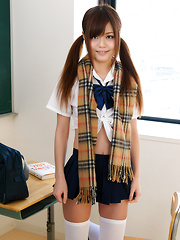 Nao Shiraishi is sexy japanese schoolgirl