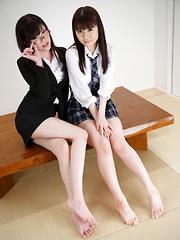 Araki Mai and Yurikawa Sara
