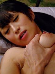 Sexy babe Nana Kunimi gets a hot creampie