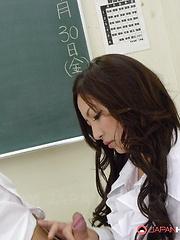Slutty Mayumi Takara gets creamed by her man