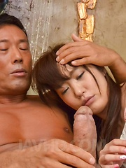 Ryouka Shinoda gets hard penis in beaver after is fucked in mouth
