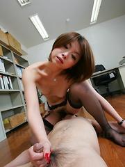 Freaky office slut Tsubaki gets fucked hard